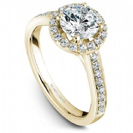 round noam carver halo engagement ring