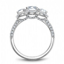 3 stone halo engagement ring