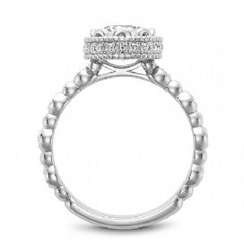 Channel Set Engagement Ring R014-01WM