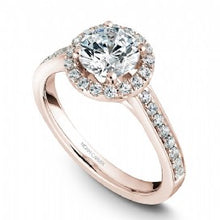 Shared Prong Halo Engagement Ring B005-01RM