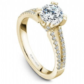 Shared Prong Engagement Ring B002-03YM