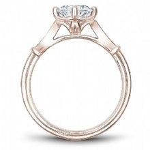 Rose Gold Vintage Styled Engagement Ring