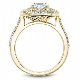 Yellow Gold Double Halo Engagement Ring