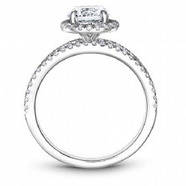 Low head halo engagement ring