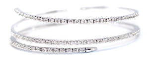 3.00ct Wrap Diamonds Bangle in 14kt White Gold
