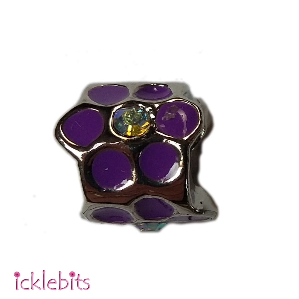 icklebits:Strass Flower With Epoxy Pandora Style Charm Bead