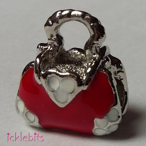 icklebits:Red Handbag Pandora Style Charm Bead