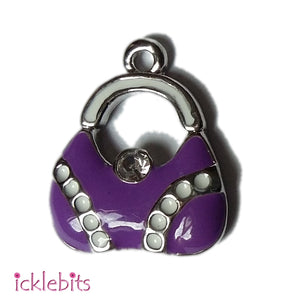 icklebits:Purple Handbag Pendant