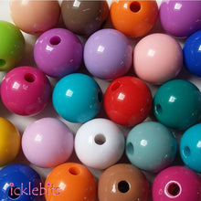 icklebits:Mixed Coloured Round Beads. 10mm (Bag of 50)