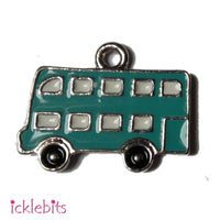 icklebits:Green Bus Charm (Small Pendant)