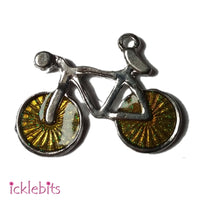 icklebits:Sparkly Bicycle Pendant