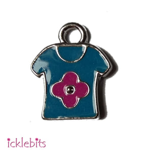 icklebits:Blue and Pink T-Shirt Charm (Small Pendant)
