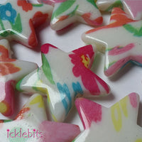 icklebits:Mixed Coloured Star Beads. 28mm