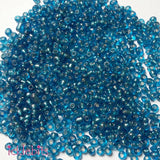 icklebits:50g Sea Blue Seed Beads. Size 4mm (6/0)