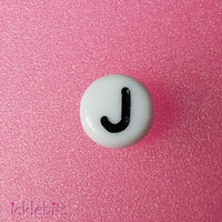 icklebits:Alphabet Letter Beads White Round.