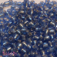 icklebits:50g Sapphire Blue Seed Beads. Size 3mm (8/0)
