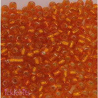 50g Orange Seed Beads. Size 3mm (8/0)