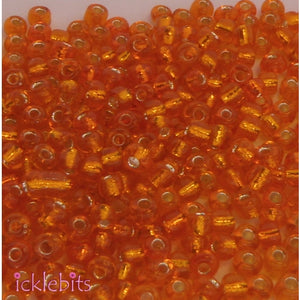icklebits:50g Orange Seed Beads. Size 3mm (8/0)