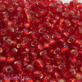 icklebits:50g Red Seed Beads. Size 3mm (8/0)
