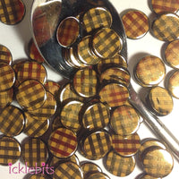 icklebits:Round Flat Black and Gold Beads
