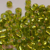 icklebits:50g Light Olive Green Seed Beads. Size 4mm (6/0)