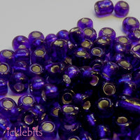 50g Dark Blue Seed Beads. Size 4mm (6/0)