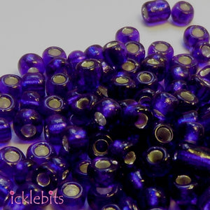 icklebits:50g Dark Blue Seed Beads. Size 4mm (6/0)