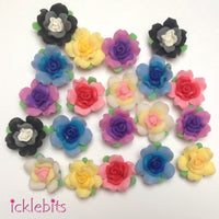 BULK BUY Mixed Fimo Clay Rose Beads