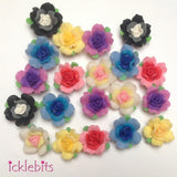 icklebits:BULK BUY Mixed Fimo Clay Rose Beads