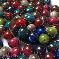icklebits:Mixed Round Two Tone Smooth Beads