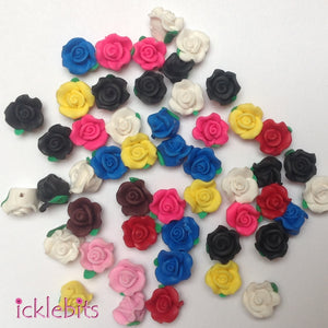 icklebits:BULK BUY Small Mixed Rose Beads (Bag of 50)