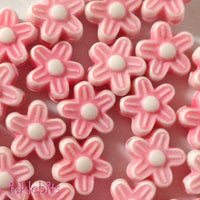 icklebits:Mini Pink Flower Beads
