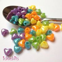 icklebits:Heart Beads Mixed Colours