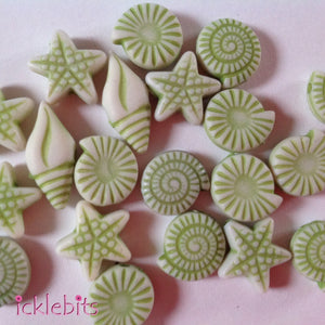 icklebits:Mini Seaside Beads in Green