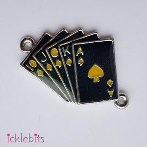 icklebits:Black and Yellow Playing Cards Connector