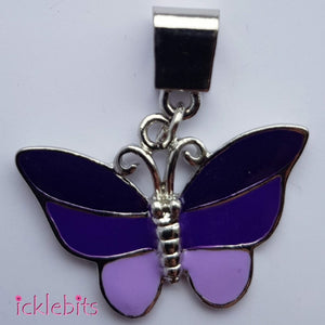icklebits:Purple Butterfly Pendant with Bail