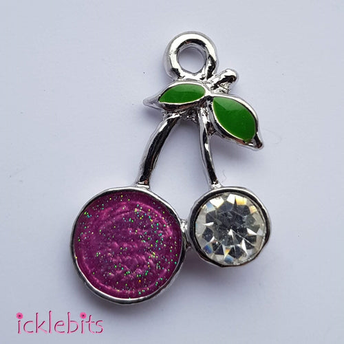 icklebits:Purple/Pink Cherry Pendant