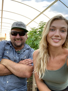Nat and Halle Pennington of Humboldt Seed Co. talk with Danny Danko