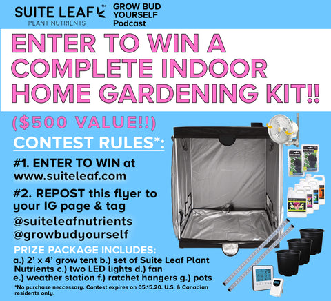 Suite Leaf and Grow Bud Yourself indoor home gardening kit contest