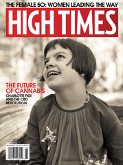 Charlotte Figi, cover of High Times featuring Excelsior Extracts