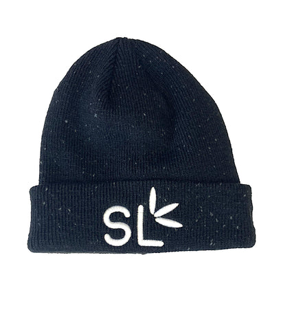 Suite Leaf Black, Speckled, Beanie (Unisex)