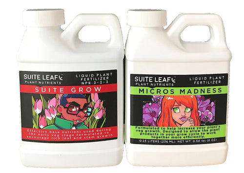 Premium House Plant & Vegetable Garden Fertilizer Kit (2 8oz Bottles)