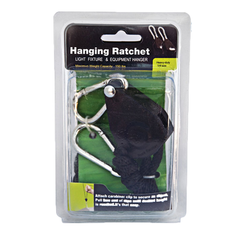 1/4'' Rope Ratcheting Light Hanger (4 pack, 1 pc. each pack)