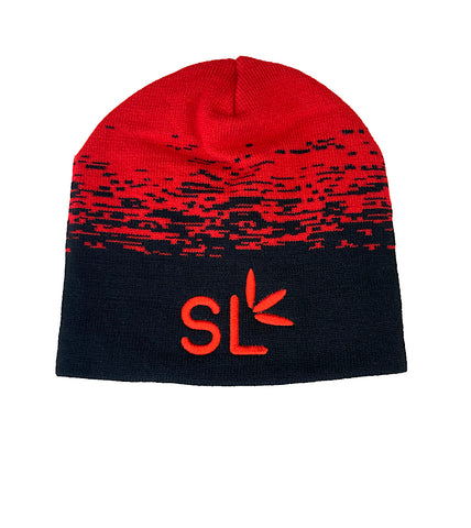 Suite Leaf Red & Black Beanie (Unisex)