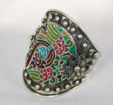 Large Cuff - Ornate with large embroidered motif