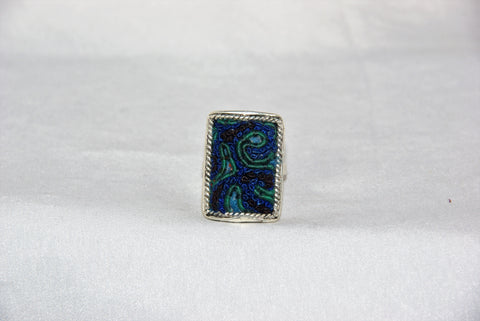 Rectangular Embroidered Ring