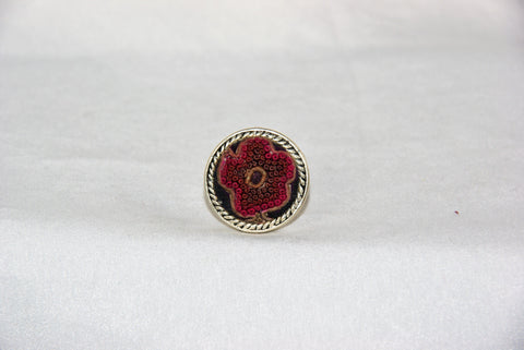 Circular Embroidered Ring