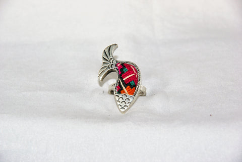 Fish shaped Embroidered Ring