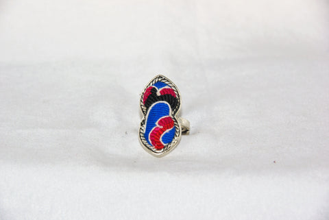 Figure-8 Embroidered Ring