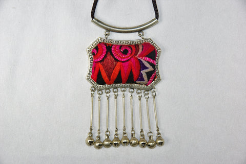Pendant - Rectangular patch with bells
